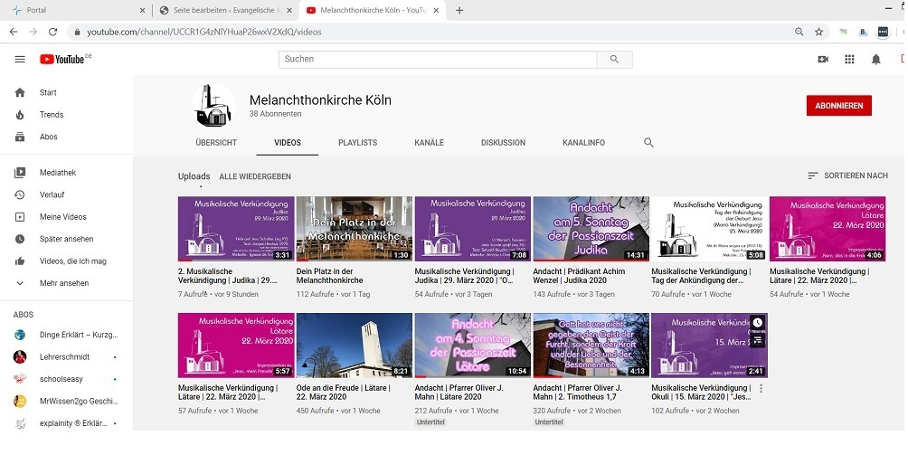 melanchthonkirche youtube